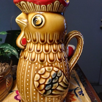 Ceramic Rooster Pitcher - Animals