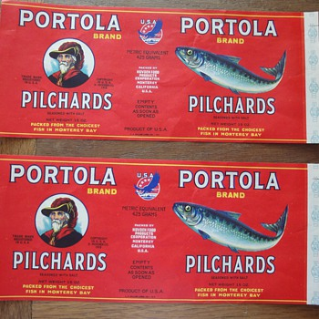 Two posters ; Portola Sardines Pilchards posters - Posters and Prints
