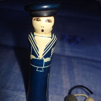 Woman sailor  perfume /cologne carry case about 1920, thanks Manikin