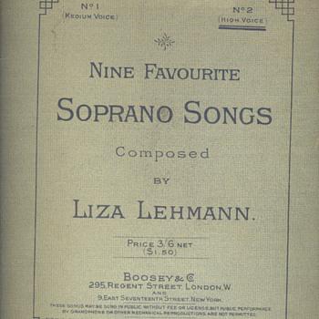 Lisa Lehmann - Music Memorabilia
