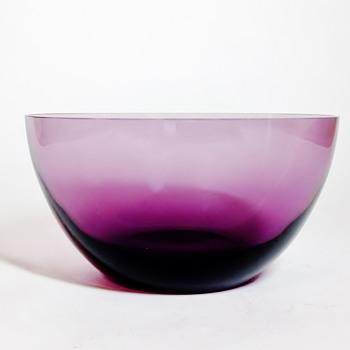 """LALIQUE - FRANCE """" AMETHYST  FINGER  BOWL"""" - Art Glass"""