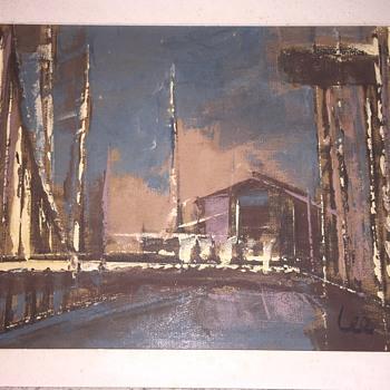 "LEONARD ""PARKER LEE ""LEIBSOHN painting - Fine Art"