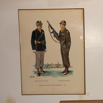 United States Constabulary 1950 Uniform Plaque