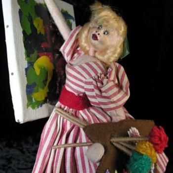 Klumpe Vintage Artist Girl Doll - Dolls