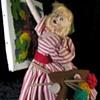 Klumpe Vintage Artist Girl Doll