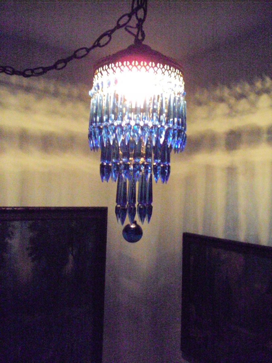 Deco style cobalt blue chandelier from the palmer house chicago deco style cobalt blue chandelier from the palmer house chicago collectors weekly aloadofball Choice Image