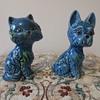 Cute Blue/Green Cat & Dog
