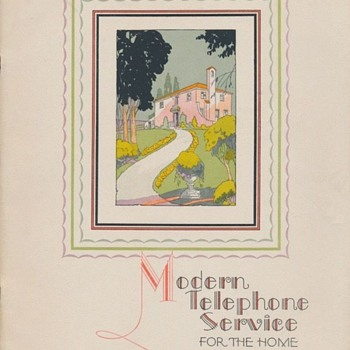 """Beautiful Art Deco 1928 """"Modern Telephone Service For The Home"""" booklet - Advertising"""
