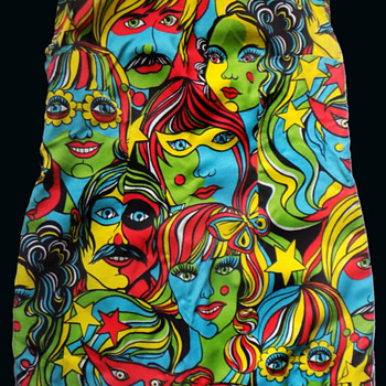 1960s - early '70s Psychedelic Mini Dress - Womens Clothing