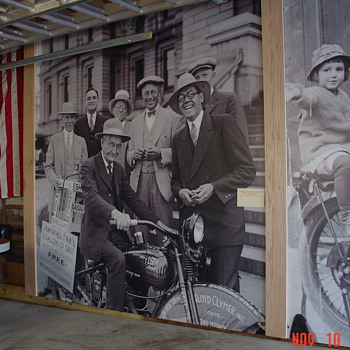 Harley Davidson...Indian...Flying Merkel...Motorcycles Images...Hanging In My Garage - Photographs