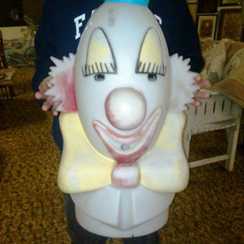 Helium tank clown head