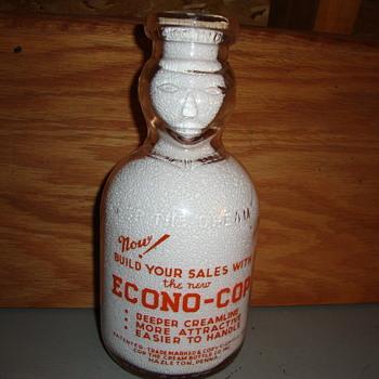Salesman sample Cop the Cream...Econo-Cop (squat quart) variation - Bottles