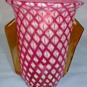Czech Glass - Diamond patterns - Art Glass