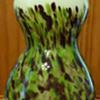 Bohemian(?) glass spatter vase