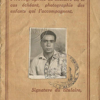 French passport issued in Tripoli 1949