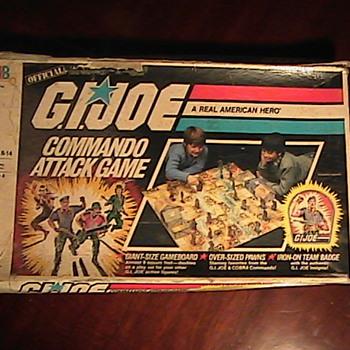 G.I. Joe Commando Attack Game Hasbro 1985 Milton Bradley Board Game