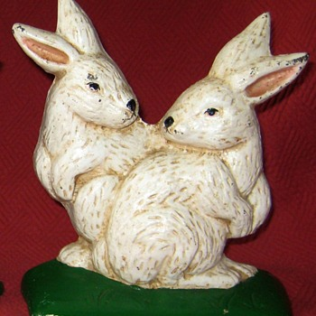 Cast Iron Rabbit Doorstops - Animals