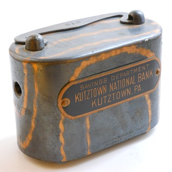"Promotional Advertising Steel Bank""Kutztown National Bank, Kutztown, Pennsylvania, Circa 1905 - Coin Operated"