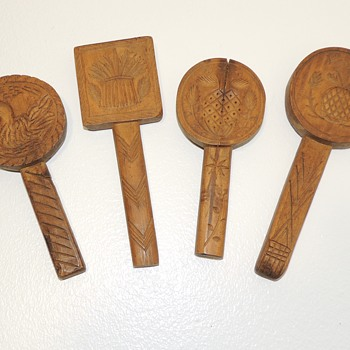 """Set of Four """"Lollipop"""" Butter Stamps - Late 18th - Early 19th Cen., American - Kitchen"""