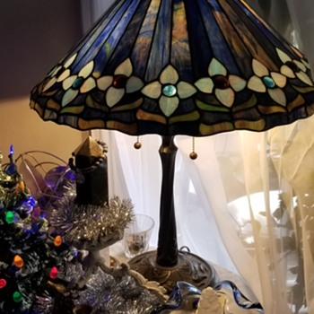Vintage stained glass lamp  - Lamps