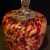 Welz Vanity jar with dogs head finial.