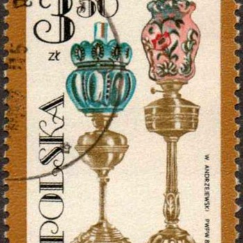 "Poland - ""Oil Lamps"" Postage Stamp - Stamps"