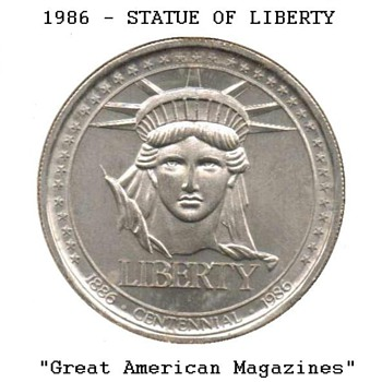 Statue of Liberty Medal - Great American Magazines - US Coins