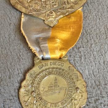Rare 1916 Panama Ca International Exposition Medal - Advertising