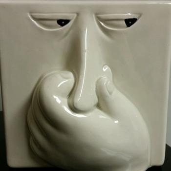 That stinks! ;)  Vtg. 80's Fitz and Floyd Stinky Face Baking soda box holder. :0) - Pottery