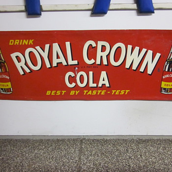 Royal Crown Cola Tin Sign Dated 1951