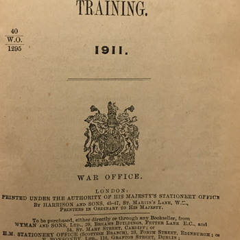 Royal Army Medical Corps Training book 1914. - Books