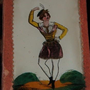 Victorian Scottish Forget Me Not Mirrored Box - Advertising