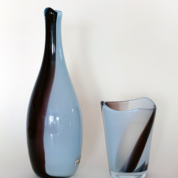 Gunnar Nylund Chimaro vases - Strömbergshyttan 1950s. - Art Glass