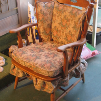 Grandmas Wood Rocker Chair - Furniture