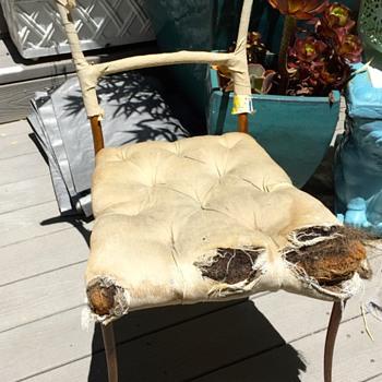 French metal modernist antique chair, Art Noveau? - Furniture