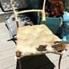 French metal modernist antique chair, Art Noveau?