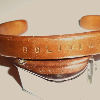Bolivia Copper bracelet early 1980's I bought for use like brass knuckles and arthritis!!