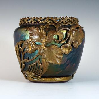 Circa 1902-04 L'Art Nouveau Marcel Bing Overlay Art Glass Vase  - Art Nouveau