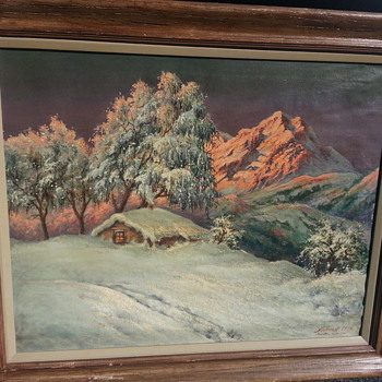 KIENTAL SOUTHWEST ALPS PAINTING - Fine Art