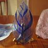 Edwin Walter Mid Century Fused Art Glass Fern Dishes