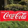 1950's Porcelain Coca Cola sled sign with buckshot preserved