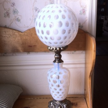 My Grandfather's Table Lamp (possible Fenton)