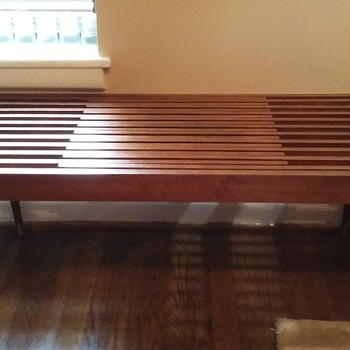 mid-century 'expandable' slatted top coffee table - Furniture