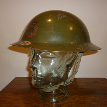 British WWII National Fire Service steel helmet 1941