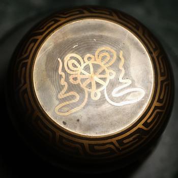 Brass Bowl with Buddhist Symbolism