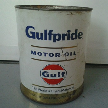 Gulfpride Oil Can by Gulf (1 Gallon) - Petroliana