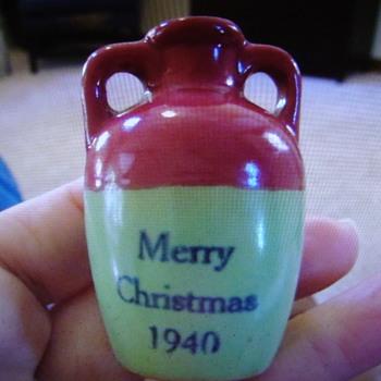 1940 UHL Merry Christmas Stoneware Jug...... - Pottery