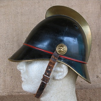 German  Fire Brigade helmet from Stuttgart Germany