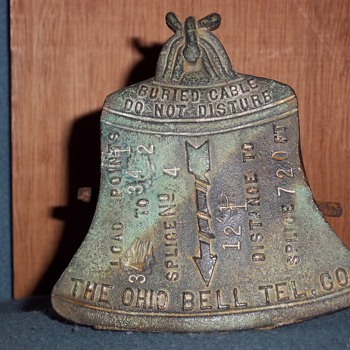 Ohio Bell Telephone Co. brass buried cable marker
