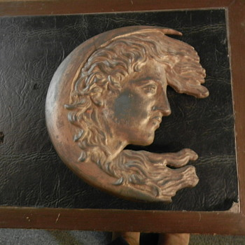 decorative  bronze moon lady - Art Deco